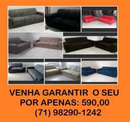 sofa de 2 e 3 lugares pop