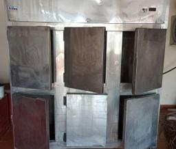 Geladeira/Refrigerador Comercial Aço Inox 6 Portas Cegas RF-067 Frilux