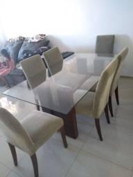 Mesa com 6 cadeiras aceito cartão