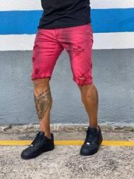 Bermuda jeans rasgada destroyed