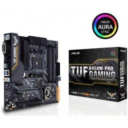 Placa-Mãe Asus TUF B450M-PRO Gaming, Amd AM4, mATX, DDR4 - Nova/Lacrada - Pronta Entrega!!