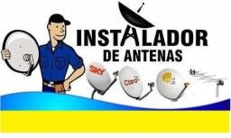 Instalação de antena e receptores alternativos