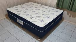 Cama Box Casal Ortobom Conjugado 43cm de Altura + Physical Blue