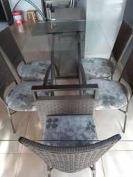 Mesa de jantar _ 6 cadeiras + acessorios