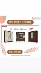 ROUPEIRO C/ ESPELHO, 6 PORTAS E 6 GAVETAS
