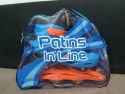 Patins in line usado da Brink+ ajustável