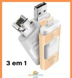 Pen Drive flash drive 512GB para celular pc USB 3.0 V8 lightning