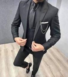 Terno Executivo em Oxford Masculino (Paletó + Calça)