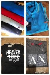 Camisas bolsa cuecas carteiras multimarcas