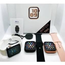 Smartwatch T500+ brinde pulseira milanesa preta
