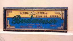 Placa Budweiser retrô