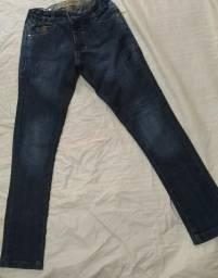 Calças jeans infanto juvenil
