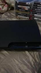 PS3 com 21 jogos e 4 controles
