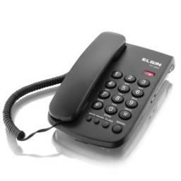 Telefone com fio Elgin - chave de bloqueio - indicação luminosa de chamada