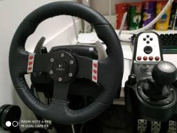 Volante Logitech G27 + Suporte Cockpit Extreme Racing