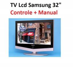 Tv Lcd Samsung 32 Polegadas Hdmi Ln32r51b + Controle + Manual (Sem Conversor Digital)