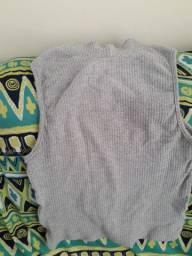 Blusa Croped Com Gola