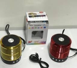 Caxinha De Som Bluetooth Mini Speaker Pendrive Usb P2 Radio
