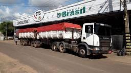Conjunto SCANIA G440 cabininha 6x4 ano 2013  / bitrem Caçambão Pastre 2011