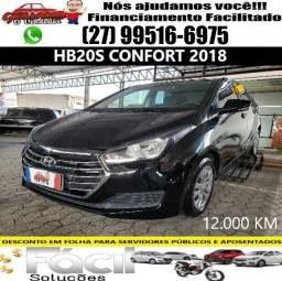 HB20s 2018 Comfort c 12.000km. Financiamento Facilitado