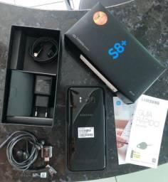 Vendo Galaxy S8+ (Plus) Preto- ESTADO DE NOVO- Nota Fiscal- Todos acessórios- JI PARANÁ