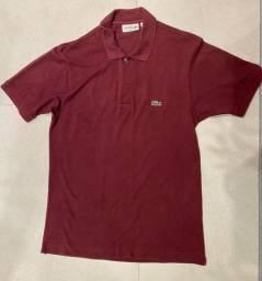 Camisa Polo Vinho Lacoste - Tamanho P
