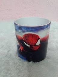 Caneca Polimero Sublimática + Caixa - Homem Aranha