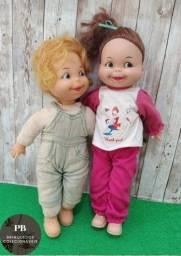Bonecos Chiquinho E Maricota Da Marca Walbert - Anos 80