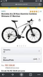 Bike aro 29 Branca Câmbio Shimano