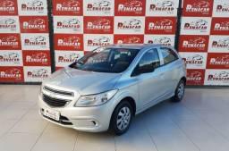 Gm Chevrolet Onix LT 2015 1.0 Prata Carro Muito