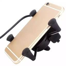 Suporte universal garra com carregador para Celular moto