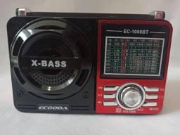 Rádio retrô AM/Fm pendrive e cartão de memória