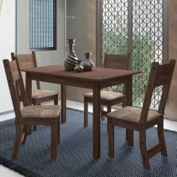 Mesa Dallas madeira 4 cadeiras novo preço de fábrica hoje
