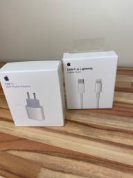 Carregador Turbo USB C Lightning Apple Primeira Linha Fonte + Cabo