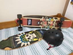 Skate Longboard Red Nose + cush + capacete