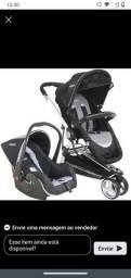 Carrinho Kiddo Compass II com bebê conforto casulo+ base