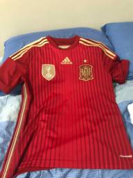 Camisa Espanha copa do mundo 2014 oficial, TAM G infantil