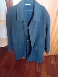 casaco 3/4 abaixo do joelho lã
