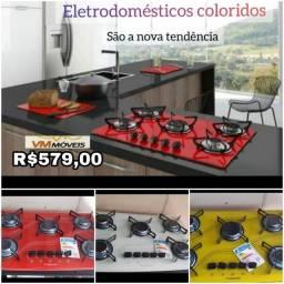 Cooktop Safanelli Colorido Fazemos Entrega em Goiânia e Aparecida