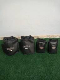 Caneleira De Musculação 3KG e 6KG (Kit Tornozeleira Para Exercícios 18 KG Total)