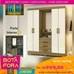 BOTA FORA - ROUPEIRO CAPELINHA  COM ESPELHO