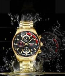 Relógio Nibosi 1985 Prova D'água Original. (Produto Novo)
