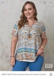 Título do anúncio: blusa PLUS SIZE nova importada da shein