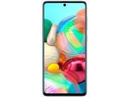 ?<br><br>Smartphone Samsung Galaxy A71 128GB Azul 4G - 6GB RAM Tela 6,7? Câm. Quádr<br>