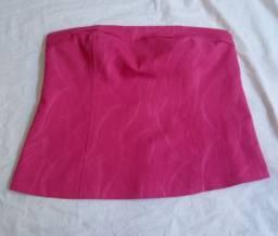 Blusa rosa tomara que caia