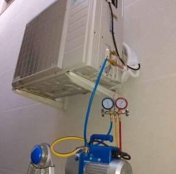 Em até 8 x no cartão.... Instalação e manutenção de ar condicionado e geladeira.