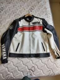 Jaqueta couro Yamaha original