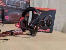 Headset gamer profissional Led