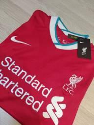 Camisa Liverpool Home 20/21 s/n° Torcedor Nike Masculina - Vermelho e Branco<br><br>