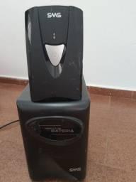 Nobreak sms 1.400va bivolt com módulo de bateria estacionaria de 80ah.